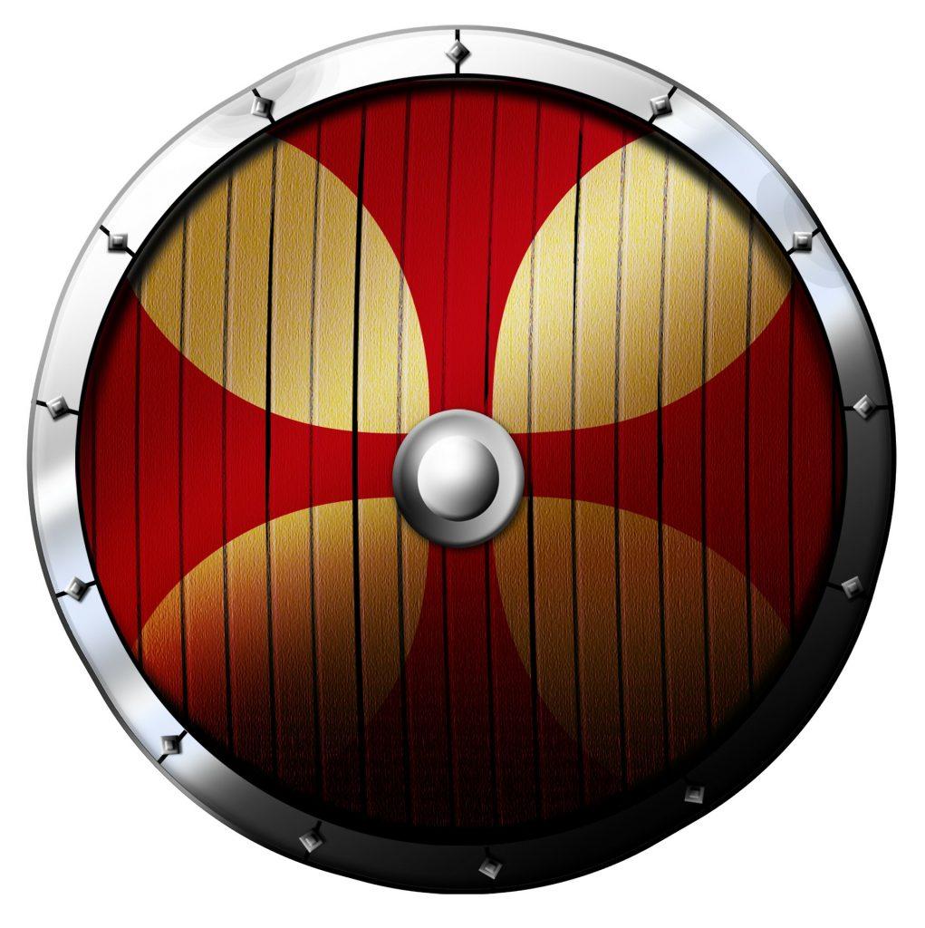 Escudo vikingo cruz