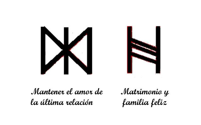 Runas de símbolos de amor