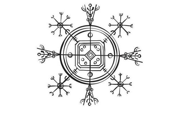 Símbolo vikingo Hulinhjalmur
