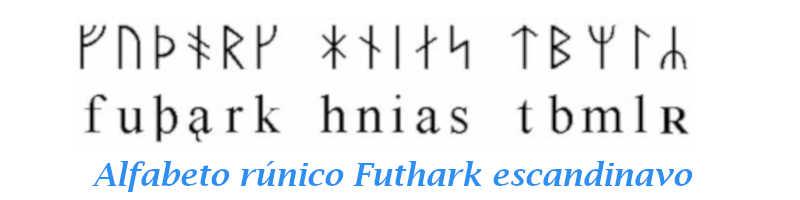 Alfabeto rúnico Futhark escandinavo