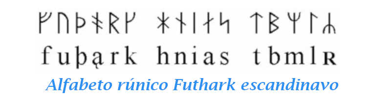 El alfabeto Futhark escandinavo cuenta con 16 letras, runas helsingia, islandesas, marcómanas, medievales, decarlianas, Futhorc anglosajón
