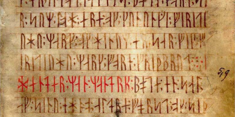 Codex runicus con las leyes de Scania