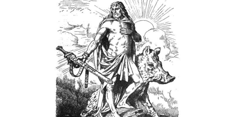 Dios nórdico Frey Laura Inguz cruces vikingas significado de fértil