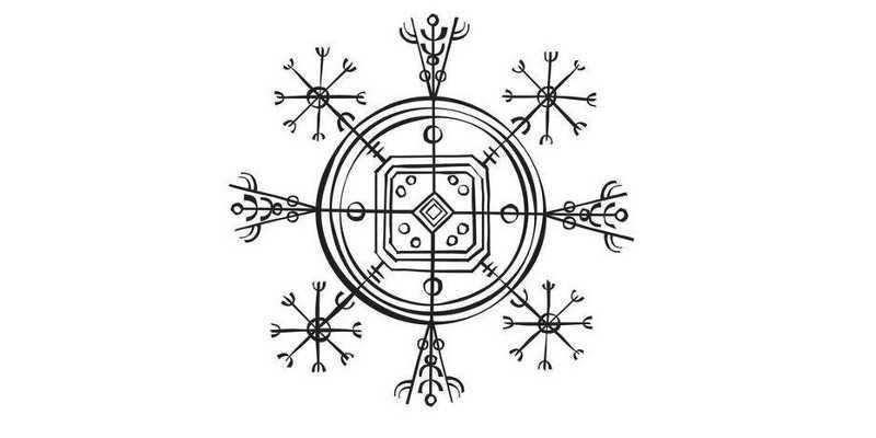 El símbolo vikingo del Hulinhjalmur