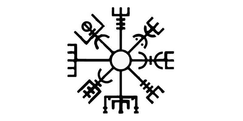 El símbolo vikingo Vegvísir