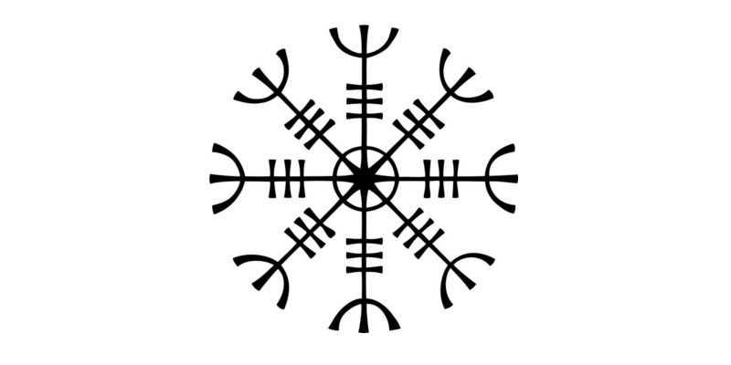 El símbolo vikingo aegishjalmur