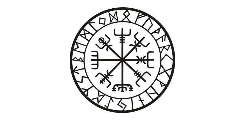 El vegvísir con runas