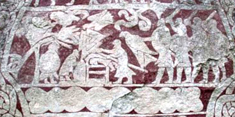 Escena de sacrificio en Hammars Wikipedia