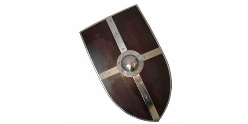 Imitación de escudo vikingo antigo de cometa