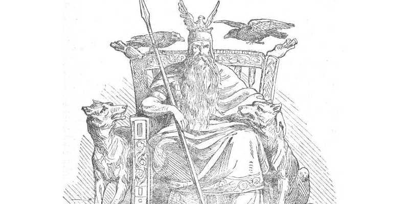 Odín y los cuervos Hugin y Munin wikipedia