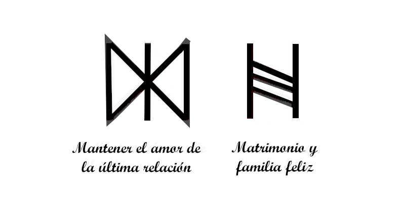 Otras runas de símbolos de amor