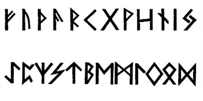 Runas adivinatorias del Futhark antiguo