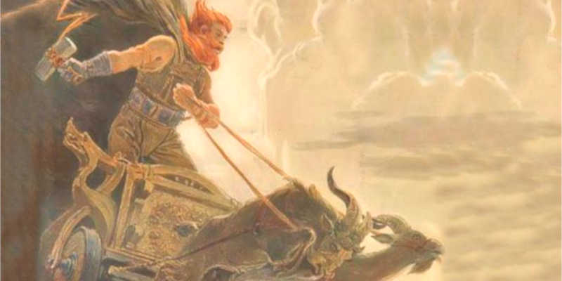 Thor en su carro tirado por cabras wikipedia