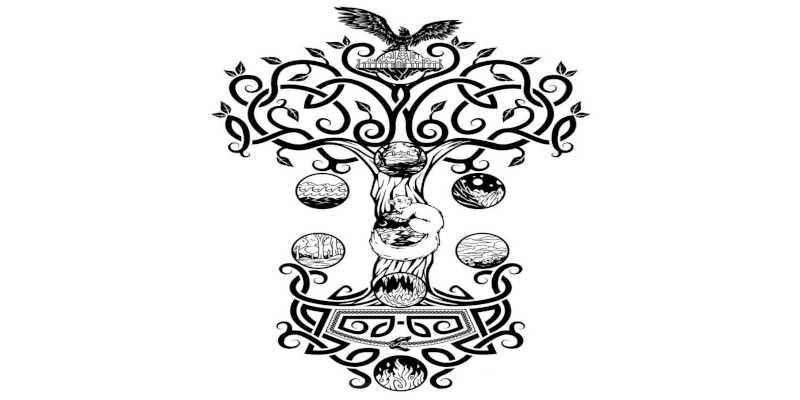 Representación artística del árbol Yggdradil wikipedia