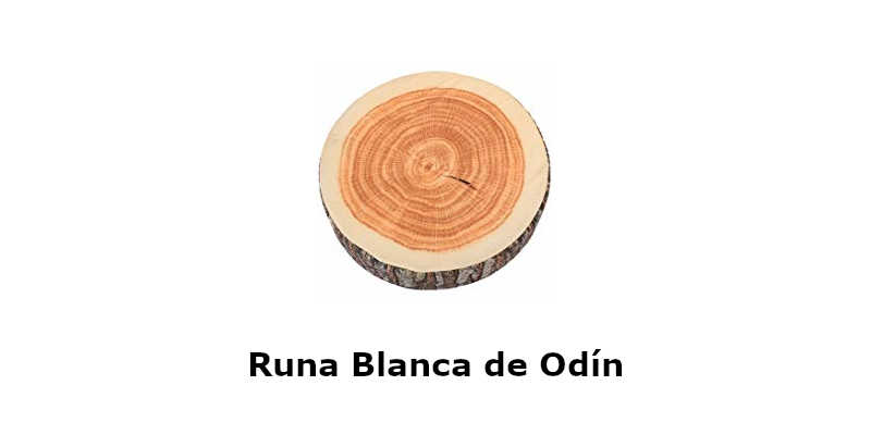 Runa Vikinga blanca de Odín