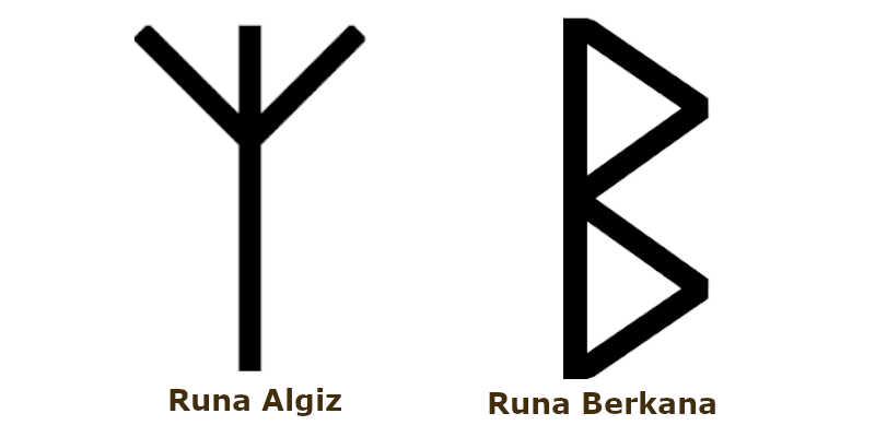 Runas del Amor Algiz y Berkana